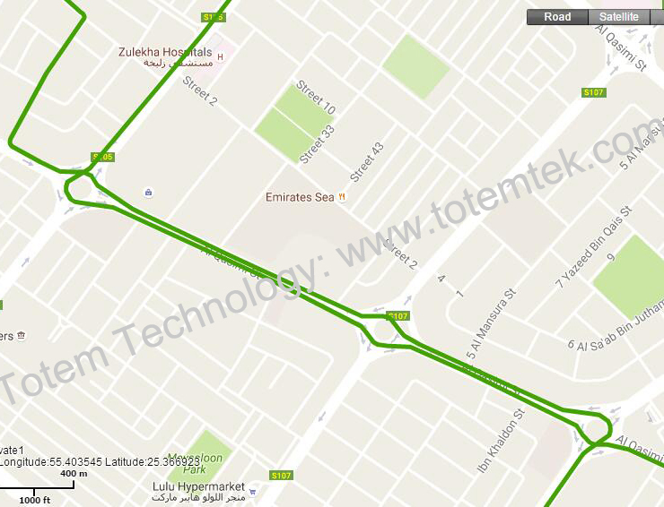 vehicles traces on gps tracking software